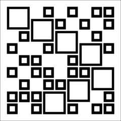 Abstract composition with squares- architectural design element