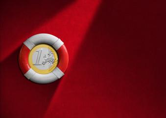Lifebuoy with Euro Coin