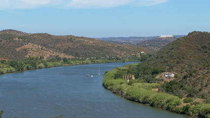 Panoramic View of the Valley with River, Alentejo Portugal