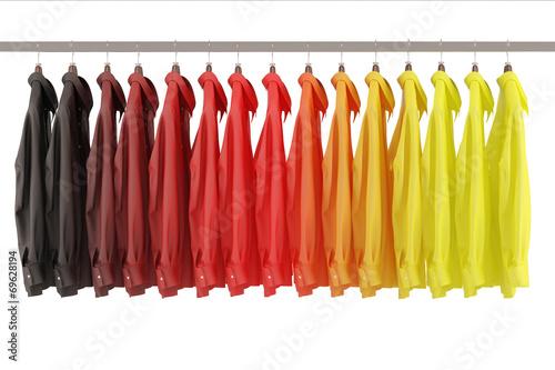 canvas print picture Hemden in Farben von Deutschland