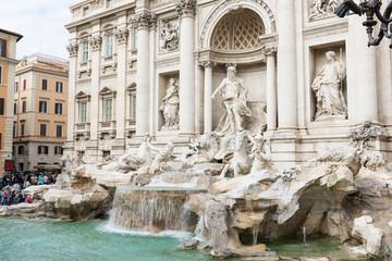 Trevi Fountain (Fontana di Trevi) in Rome. Italy