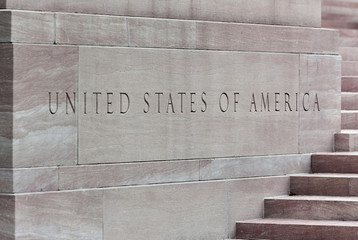 Schriftzug United States of America