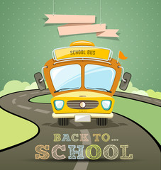 School bus concept design vector illustration