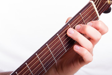 C major chord performed on acoustic guitar