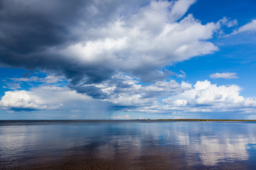 Ladoga lake in summer