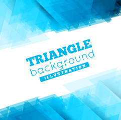 Triangle abstract  background illustration