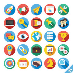 Modern Vector Flat Icons Set 5