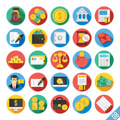 Modern Vector Flat Icons Set 8