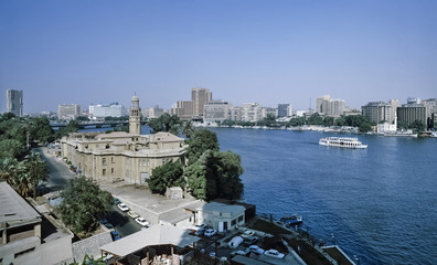 Egypt, Cairo, view of the city and the Nile river - FILM SCAN