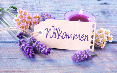 Spa Welcome - Wilkommen - background
