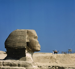 Egypt, Cairo, view of the Sphinx - FILM SCAN