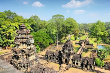 Angkor Thom temple ruins in Cambodia