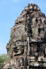 Bayon temple ruins in Cambodia