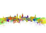 Glasgow Watercolor  skyline