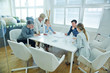 canvas print picture - Zusammenarbeit im Team im Konferenzraum