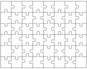 Vector illustration of white puzzle 3