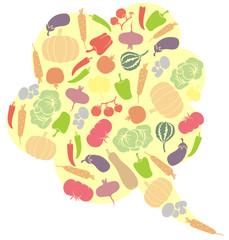 Vegetarian speech bubble