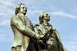 Goethe und Schiller Denkmal,  Klassik, Theaterplatz, Weimar,