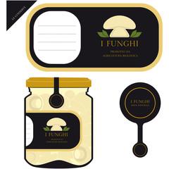 Etichetta per i funghi