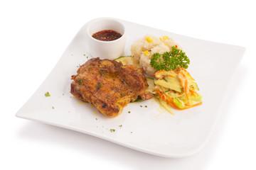thai spicy deep fried chicken