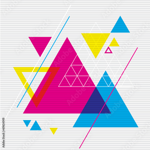 Abstract design with triangles - 69634149