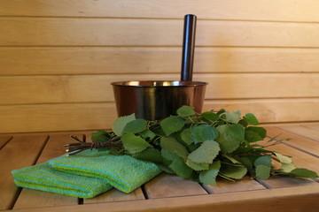 sauna equipment at Finnish sauna