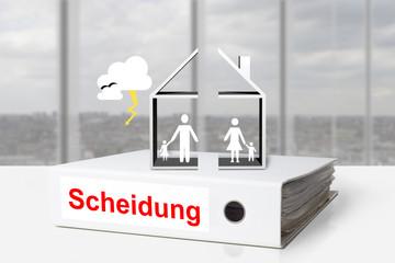 Ordner Scheidung geteiltes Haus Familie