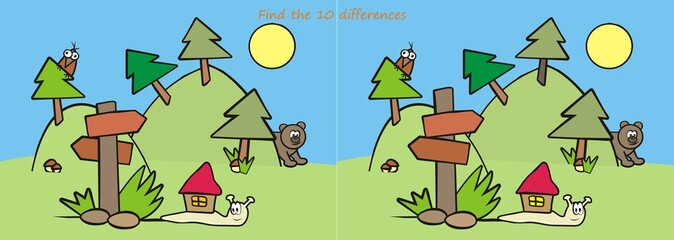animals - find ten differences