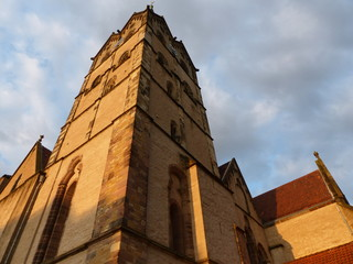 Kirchturm der Münsterkirche in der Hansestadt Herford