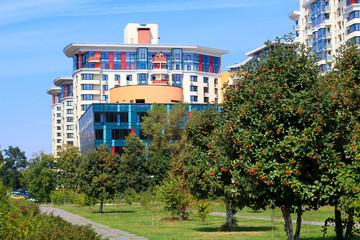 modern residential area of Kiev