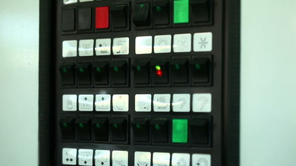 View of manual control switches
