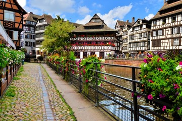 Quaint timbered houses of Petite France, Strasbourg, France