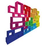 Vector modular shelving 3d poster