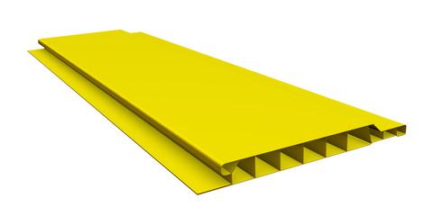Yellow plastic panel