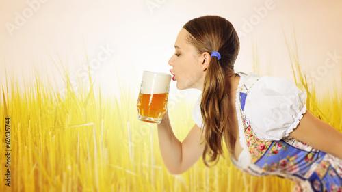canvas print picture bier sexy trinken