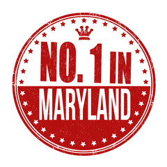 Number one in Maryland stamp