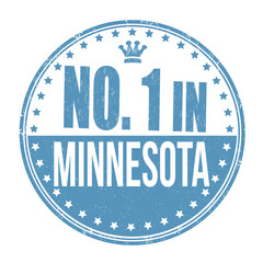 Number one in Minnesota stamp