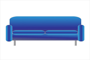 Sofa blau