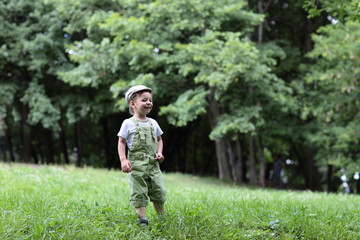 Happy child in park
