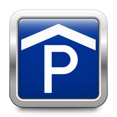Parking garage - glossy metallic button