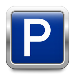 Parking - glossy metallic button