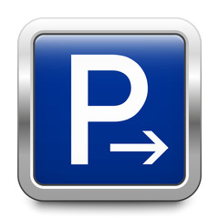 Parking end - glossy metallic button