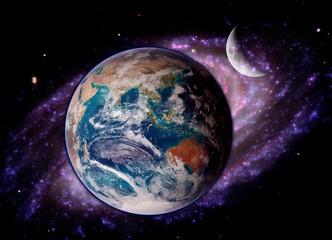 Earth Fantasy Moon Stars
