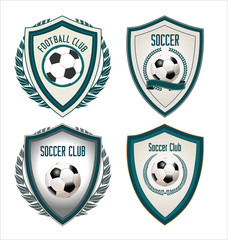 Set of soccer football emblem