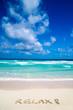 Relax on beach