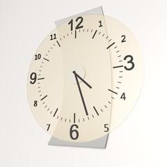 Moderne klok aan de wand