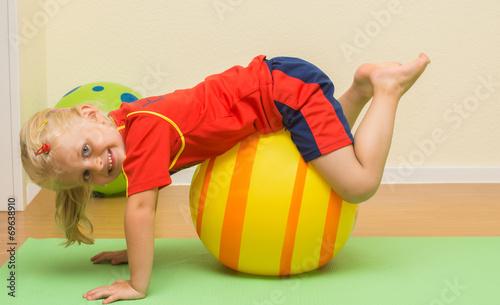 Leinwanddruck Bild Kindergymnastik