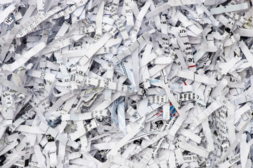 Shredded paper texture background