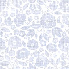 Purple textile flowers texture seamless pattern background