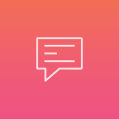 Comment  - Finely crafted line icons